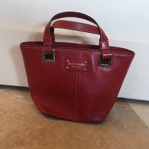 Kate Spade red pebble leather bag